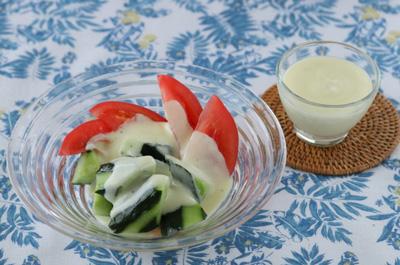 夏野菜のヨーグルトドレッシング